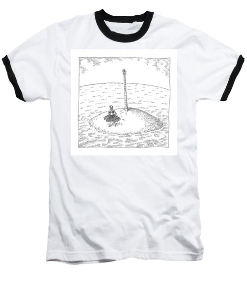 A Person Stands On A Desert Island. The Tree Baseball T-Shirt