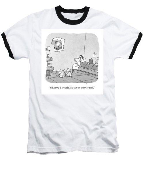 A Prisoner Who Has Broken Through A Wall Baseball T-Shirt