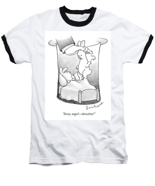 A Rabbit Is Being Pulled Out Of A Hat Baseball T-Shirt