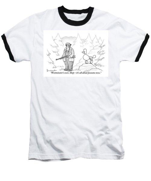 A Rough-looking Man Holding A Shotgun Speaks Baseball T-Shirt