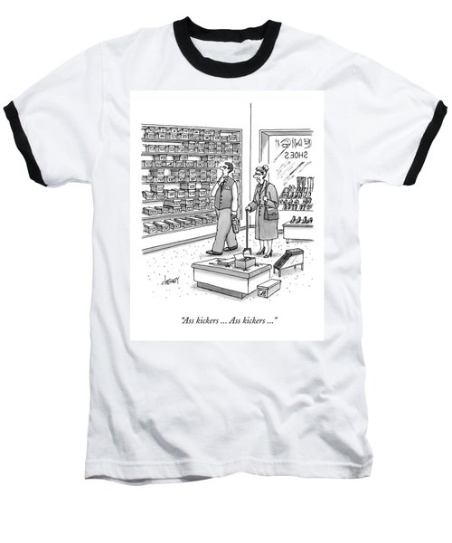 A Shoe Salesman Browses The Selection Of Shoes Baseball T-Shirt