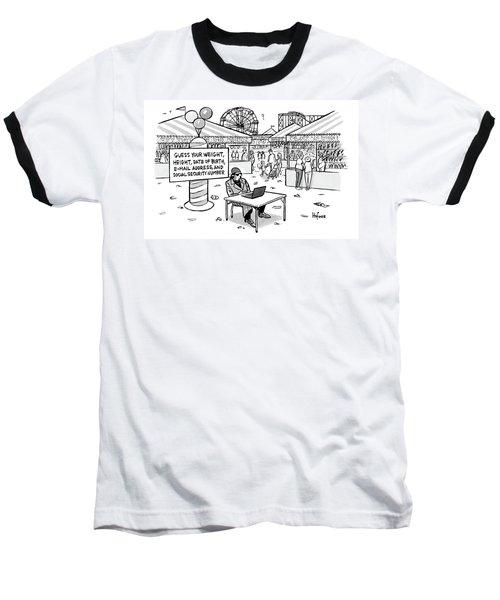 A Sketchy-looking Man Sits At A Table Baseball T-Shirt