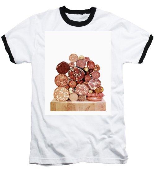 A Stack Of Sausages Baseball T-Shirt