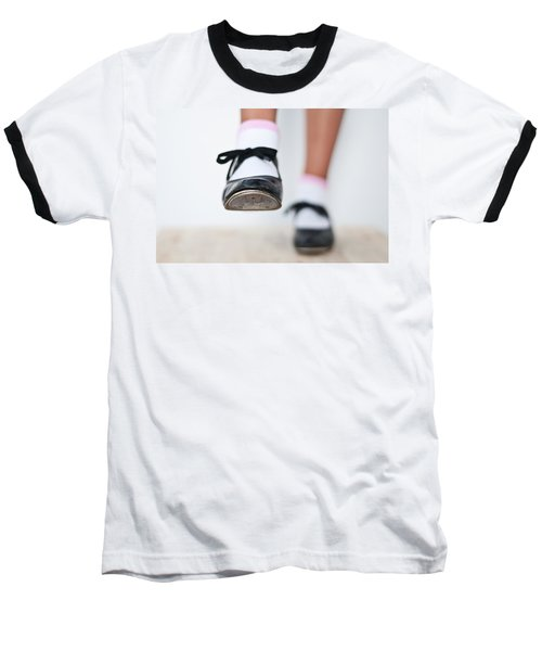Old Tap Dance Shoes From Dance Academy - A Step Forward Tap Dance Baseball T-Shirt