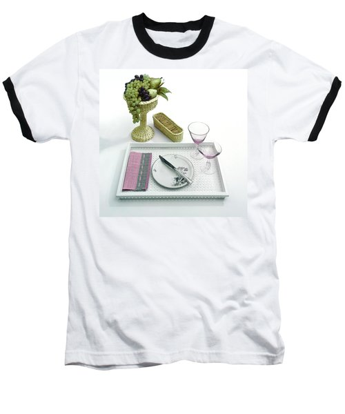 A Summer Table Setting On A Tray Baseball T-Shirt