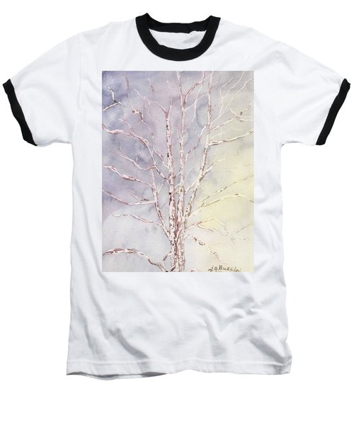 A Tree In Winter Baseball T-Shirt by Vickie G Buccini