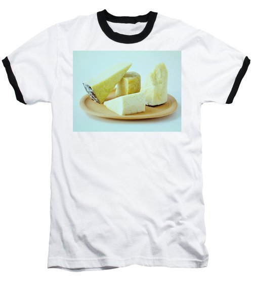 A Variety Of Cheese On A Plate Baseball T-Shirt