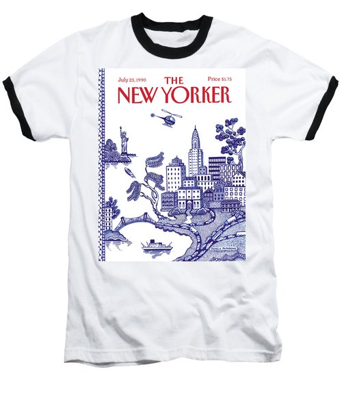 A View Of New York City Baseball T-Shirt