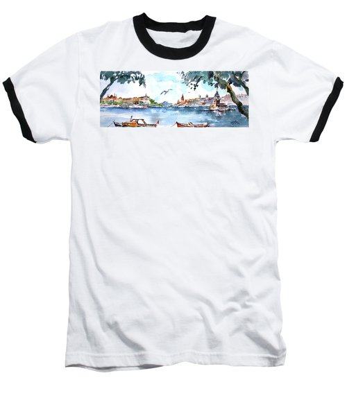 A View Of The Historical Peninsula From Uskudar - Istanbul Baseball T-Shirt