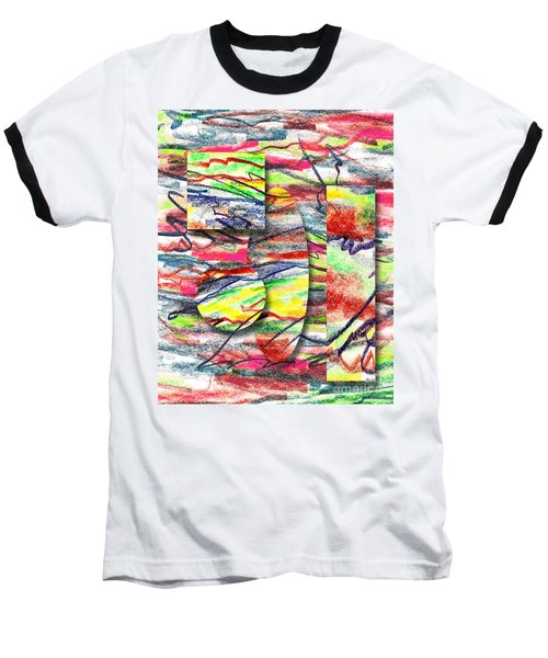 Baseball T-Shirt featuring the drawing A Walk In The Park  by Peter Piatt