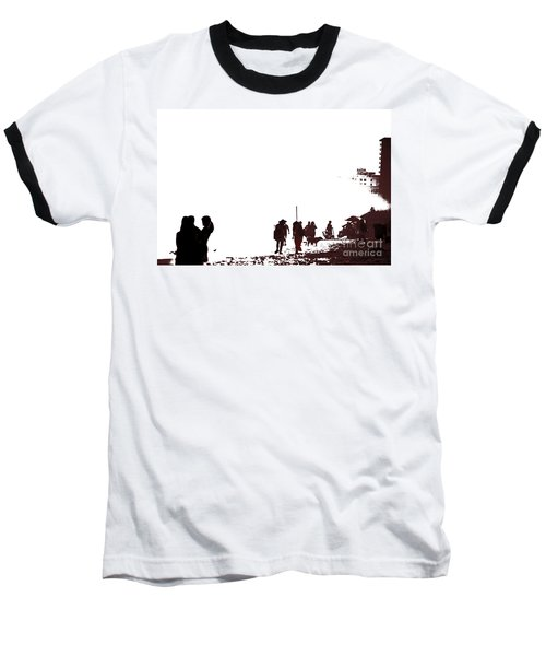 Baseball T-Shirt featuring the photograph A Walk On The Beach by Gary Smith
