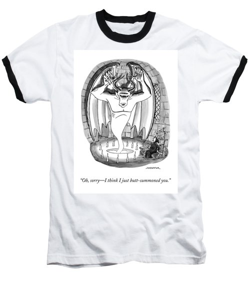 A Witch Speaks To A Demon Sprung From A Seance Baseball T-Shirt