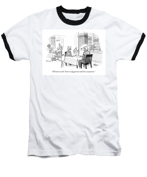 Dog Person And Cat Person Baseball T-Shirt