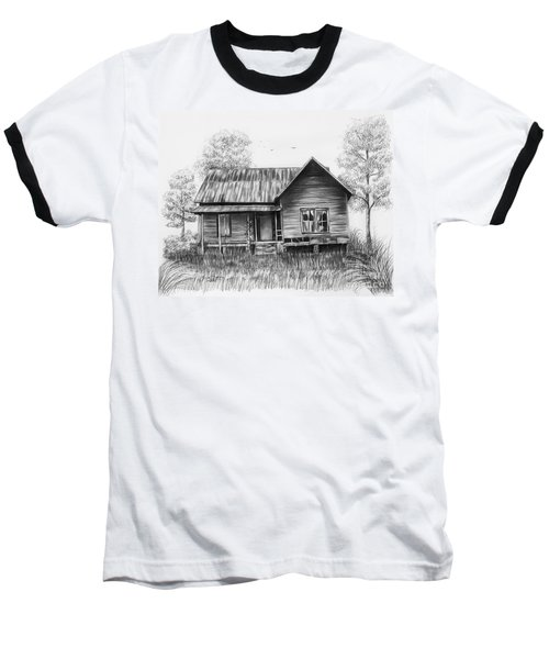 Abandoned House Baseball T-Shirt by Lena Auxier