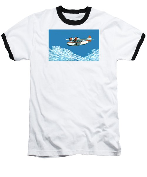 Above It All  The Grumman Goose Baseball T-Shirt by Gary Giacomelli