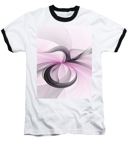 Abstract Art Fractal With Pink Baseball T-Shirt