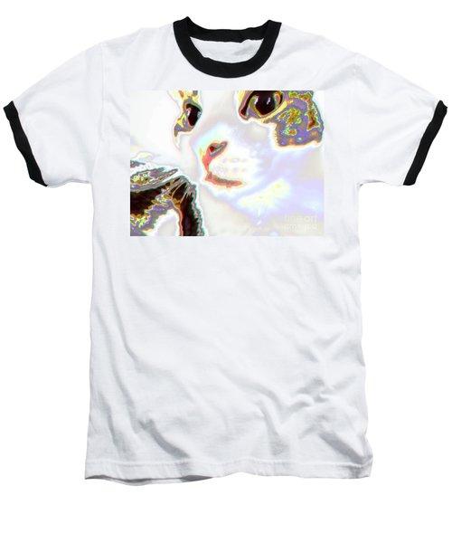 Abstract Cat - Digital Art Baseball T-Shirt