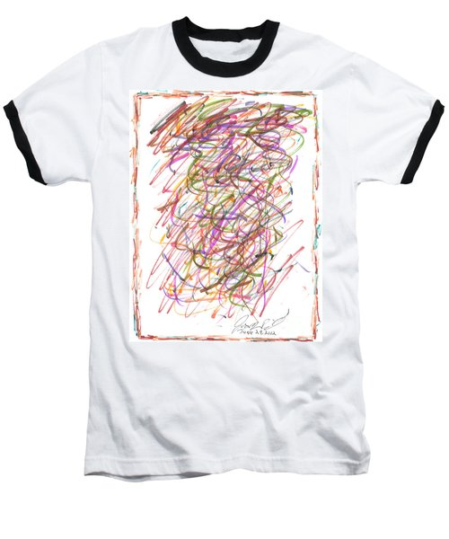 Baseball T-Shirt featuring the painting Abstract Confetti Celebration by Joseph Baril