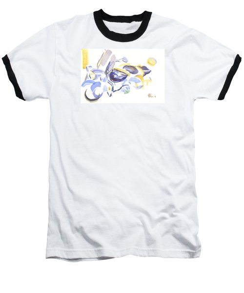 Abstract Motorcycle Baseball T-Shirt by Kip DeVore