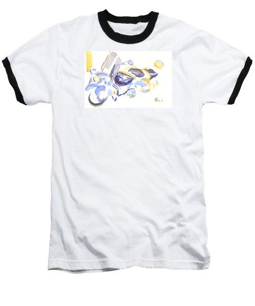 Abstract Motorcycle Baseball T-Shirt