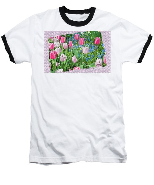 Abstract Spring Floral Fine Art Prints Baseball T-Shirt