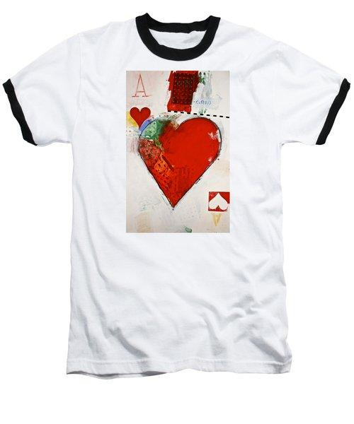 Ace Of Hearts 8-52 Baseball T-Shirt by Cliff Spohn