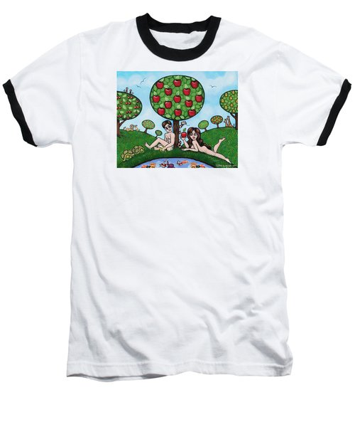 Adam And Eve The Naked Truth Baseball T-Shirt