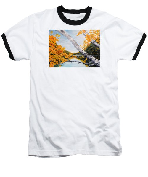 Adirondacks New York Baseball T-Shirt by Holly Carmichael