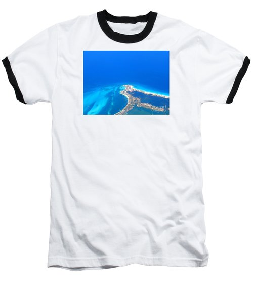 Baseball T-Shirt featuring the photograph Aerial View Of Cancun by Patti Whitten