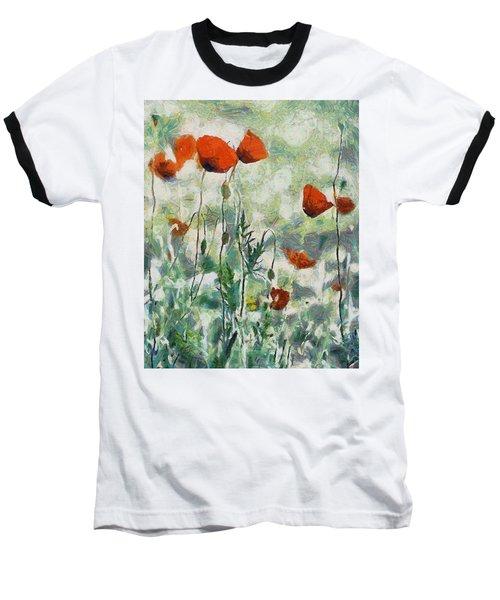 Baseball T-Shirt featuring the painting Affection by Joe Misrasi