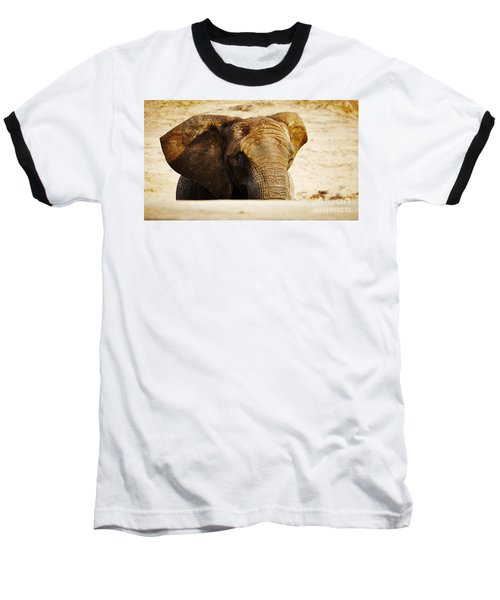 African Elephant Behind A Hill Baseball T-Shirt