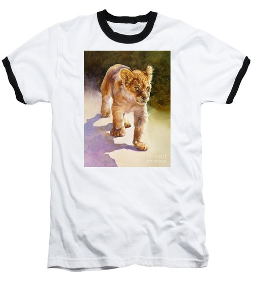 African Lion Cub Baseball T-Shirt