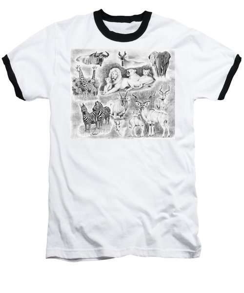 African Safari Baseball T-Shirt