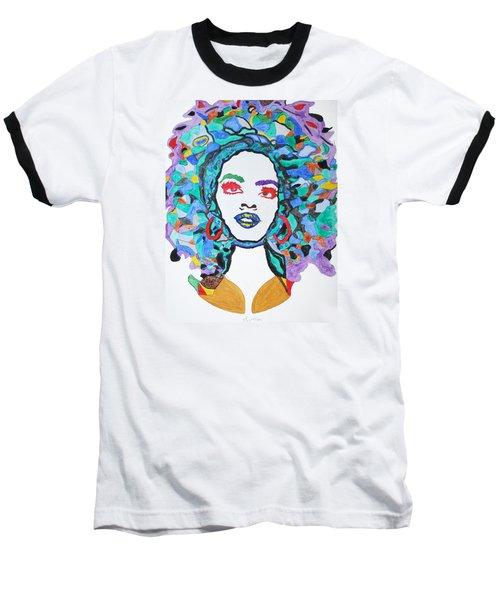 Afro Lauryn Hill  Baseball T-Shirt by Stormm Bradshaw