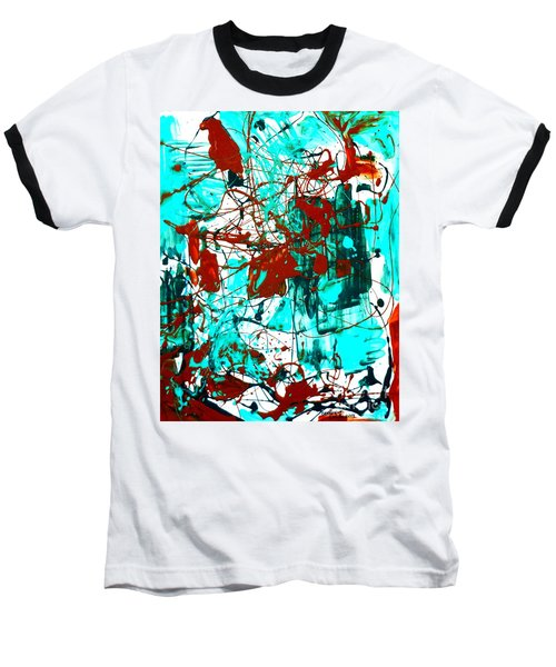 After Pollock Baseball T-Shirt by Genevieve Esson