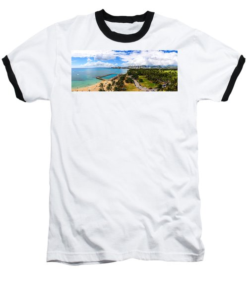 Afternoon On Waikiki Baseball T-Shirt