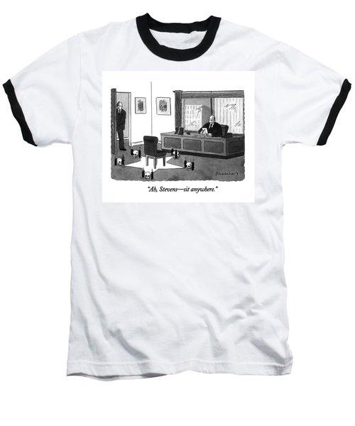 Ah, Stevens - Sit Anywhere Baseball T-Shirt