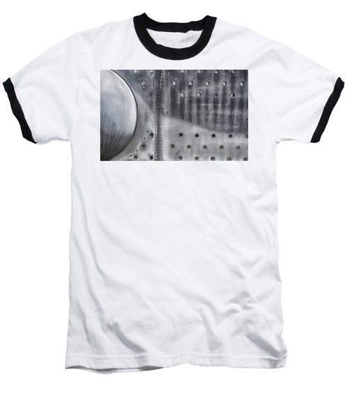 Aircraft Aluminum Two Baseball T-Shirt by Gary Warnimont