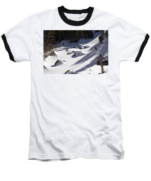 Alberta Falls In Estes Park Colorado Baseball T-Shirt