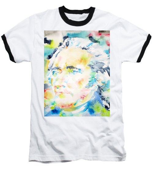 Alexander Hamilton - Watercolor Portrait Baseball T-Shirt