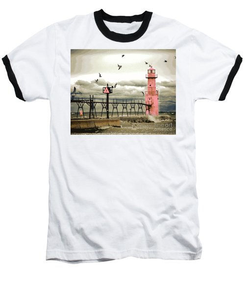 Algoma Pierhead Lighthouse Baseball T-Shirt