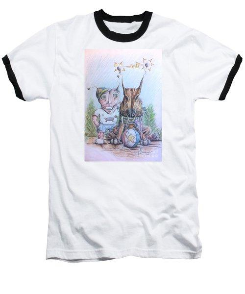 Alien Boy And His Best Friend Baseball T-Shirt