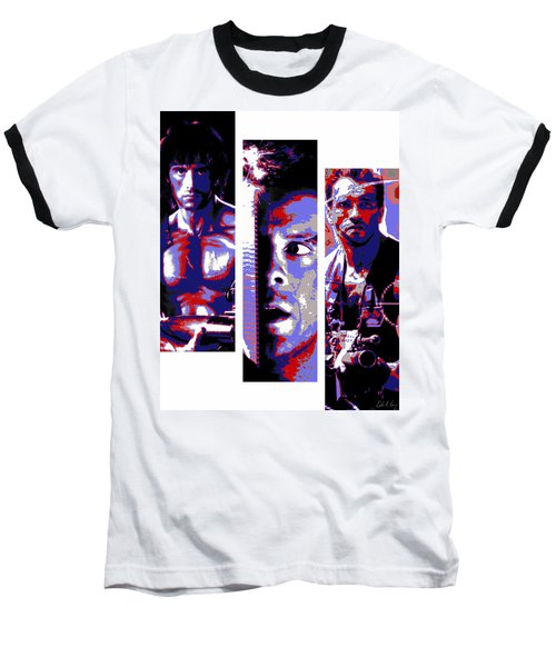 All-american 80's Action Movies Baseball T-Shirt by Dale Loos Jr