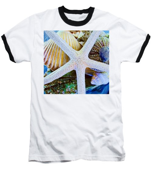 All The Colors Of The Sea Baseball T-Shirt by Colleen Kammerer