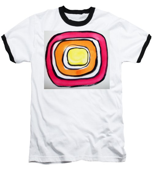 Baseball T-Shirt featuring the painting Almost Circles by Erika Chamberlin