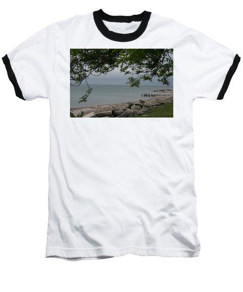 Baseball T-Shirt featuring the photograph Along The Shore by Kay Novy