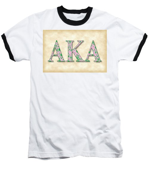 Alpha Kappa Alpha - Parchment Baseball T-Shirt