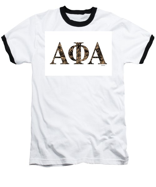 Baseball T-Shirt featuring the digital art Alpha Phi Alpha - White by Stephen Younts