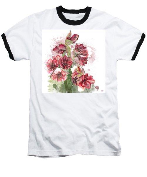Amaryllis Flowers - 4. - Elena Yakubovich Baseball T-Shirt