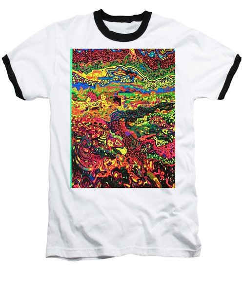 Baseball T-Shirt featuring the drawing American Abstract by Jonathon Hansen